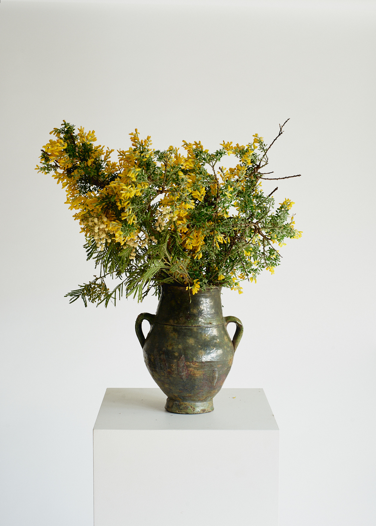 Vintage Pottery Vase – Green