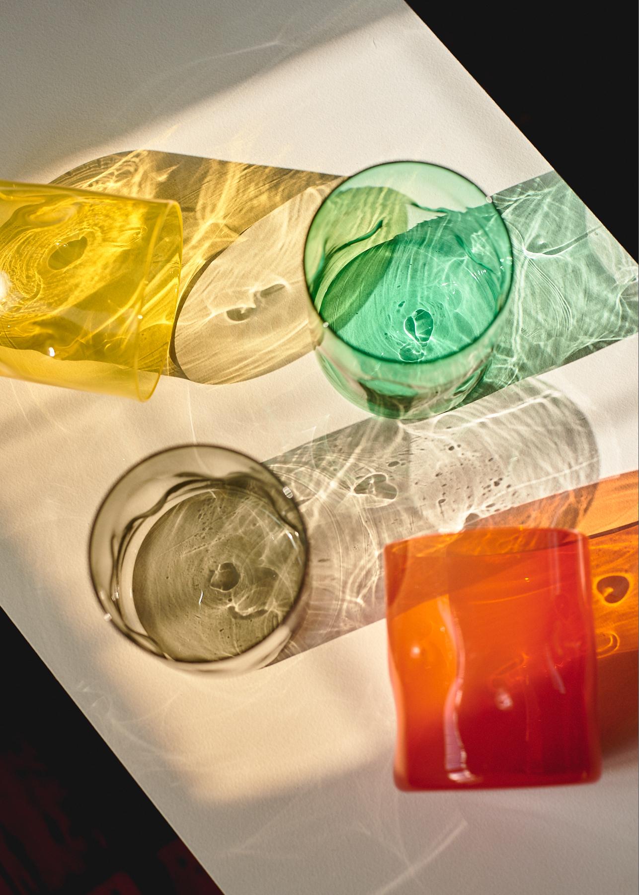 Handmade Coloured Glassware